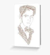 Federico Garcia Lorca - Word Collage with +70 Books, Plays, Poems, Characters Greeting Card