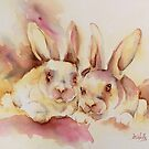 Bunny pals by Bev  Wells