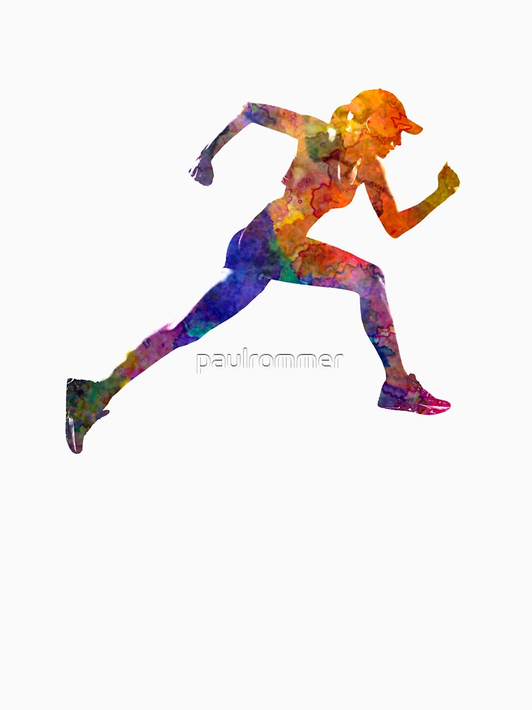 Woman runner jogger running by paulrommer