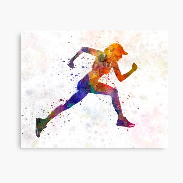 Woman runner jogger running Canvas Print