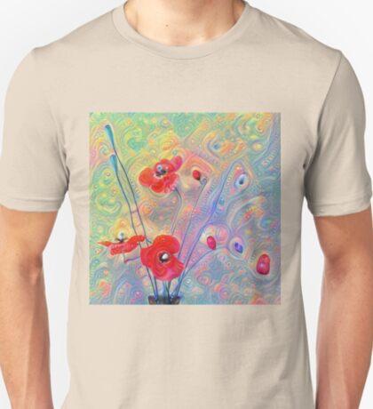 #Deepdreamed Poppies T-Shirt