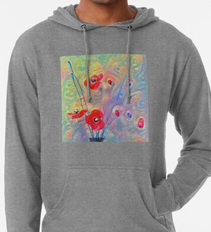 #Deepdreamed Poppies Lightweight Hoodie