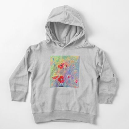 #Deepdreamed Poppies Toddler Pullover Hoodie