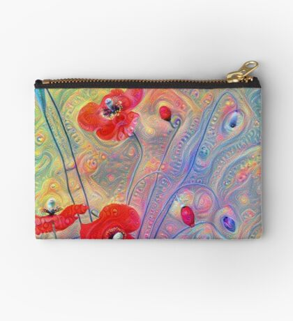 #Deepdreamed Poppies Studio Pouch