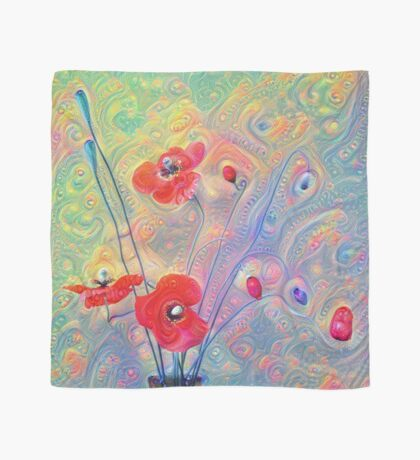 #Deepdreamed Poppies Scarf