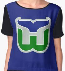 HARTFORD WHALERS HOCKEY RETRO Women's Chiffon Top