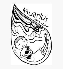 Zodiac Signs: Aquarius Photographic Print