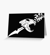 Black Flag Lion Skull Greeting Card