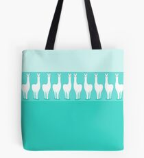 LLAMA ROW ON TURQUOISE Tote Bag