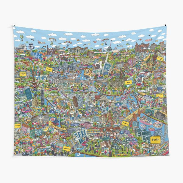 Illustrated map of Berlin Tapestry