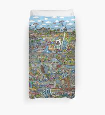 Illustrated map of Berlin Duvet Cover