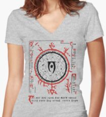 Xarxes Women's Fitted V-Neck T-Shirt
