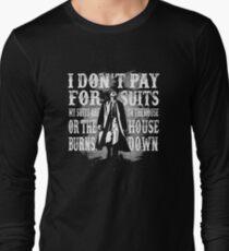 Camiseta de manga larga No pago por los trajes