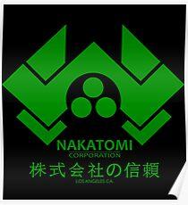 NAKATOMI PLAZA - DIE HARD BRUCE WILLIS (GREEN) Poster