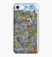 Illustrated map of Berlin iPhone Case/Skin