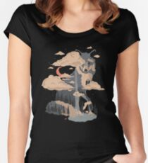 At the Foot of Fox Mountain... Women's Fitted Scoop T-Shirt