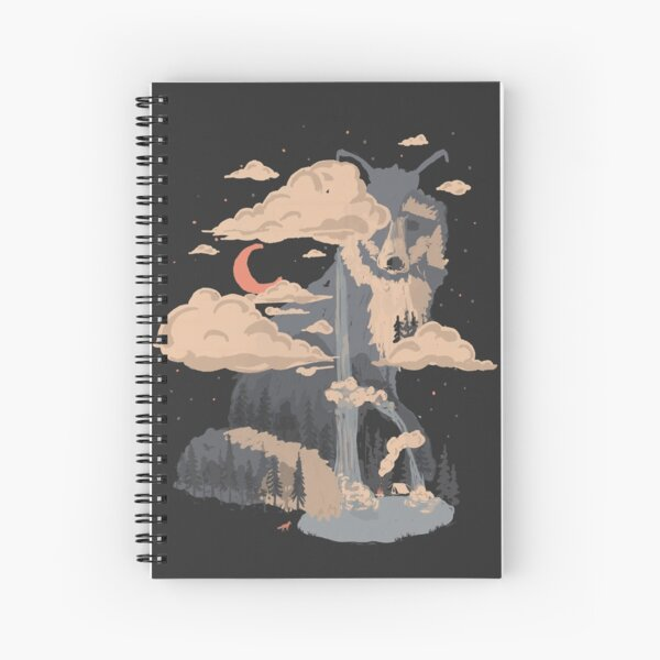 At the Foot of Fox Mountain... Spiral Notebook