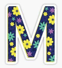 Flower Letter M Sticker