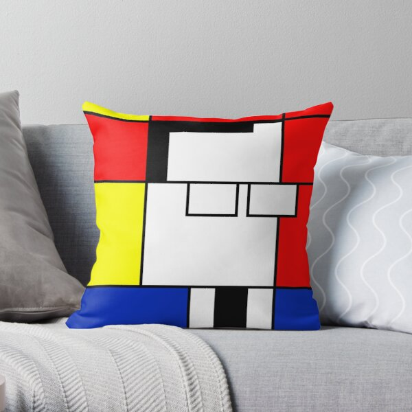 Ambedkar - Mondrian style Throw Pillow