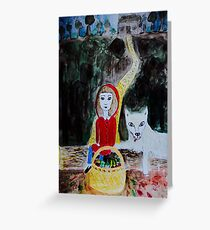 Picknick with the Wolf Greeting Card