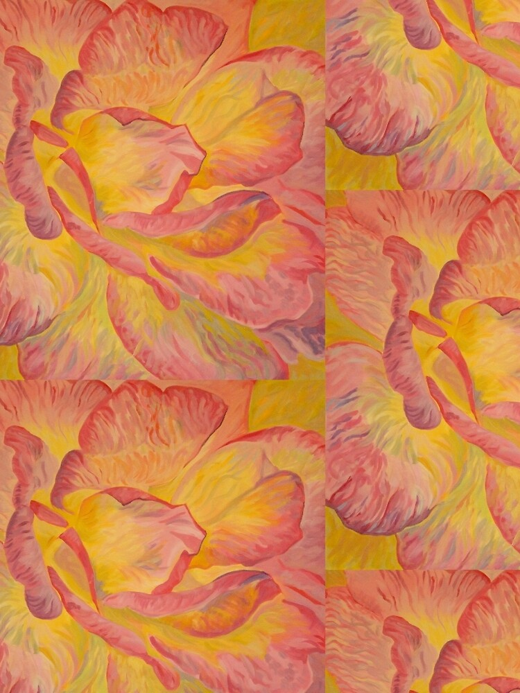 Yellow Pink Rose by Laulo