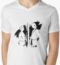 a-ha Tinte T-Shirt mit V-Ausschnitt