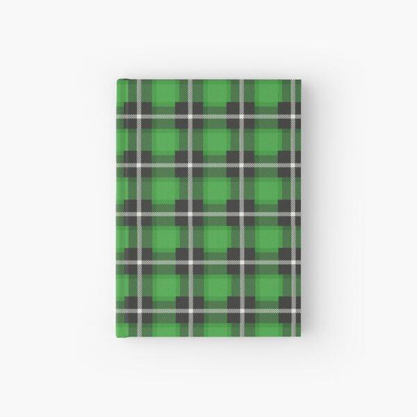 green tartan print   Hardcover Journal