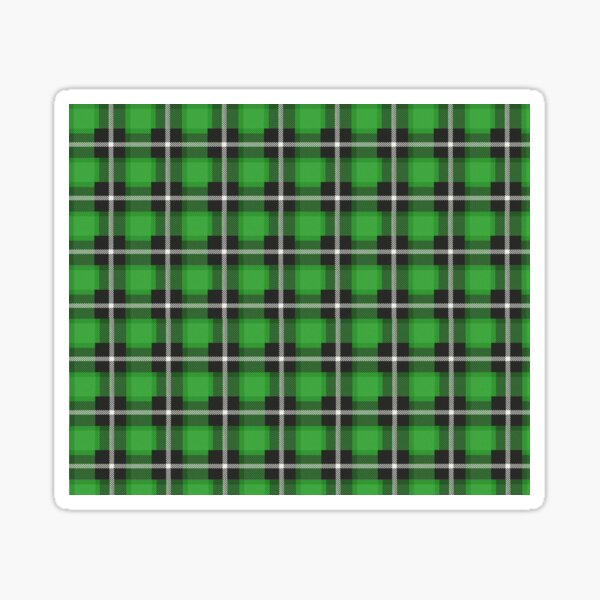 green tartan print   Sticker