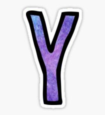 Letter y stickers redbubble letter y sticker sciox Image collections