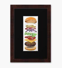 Classic Cheeseburger Cheeseburger Framed Print
