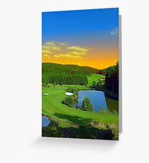 Summer sunset at the golf club | landscape photography Greeting Card