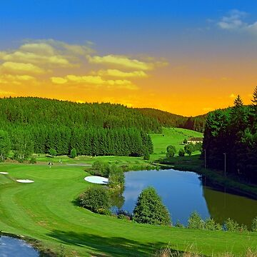 Summer sunset at the golf club   landscape photography by patrickjobst