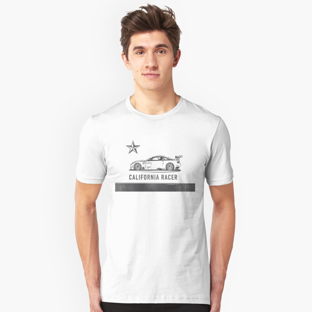 California Racer - Black M3 Slim Fit T-Shirt