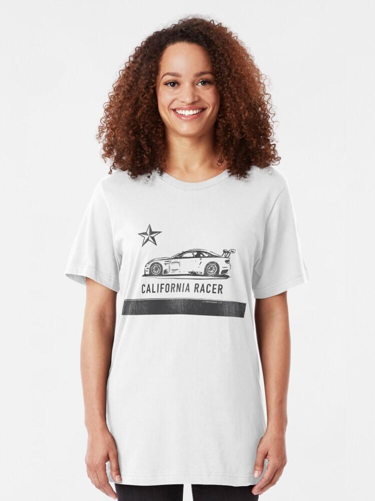 Alternate view of California Racer - Black M3 Slim Fit T-Shirt