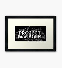 project manager Framed Print