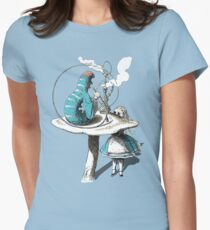 Alice wants a toke Womens Fitted T-Shirt