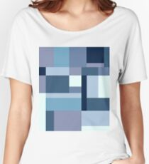 Abstract #387 Blue Harmony Women's Relaxed Fit T-Shirt