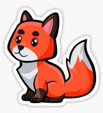 Baby Fox -Fire Sticker
