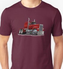 Cartoon Semi Truck Unisex T-Shirt
