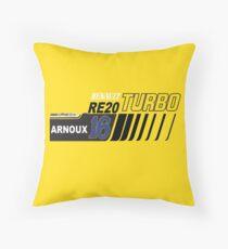 Rene Arnoux Renault Turbo RE20 F1 Throw Pillow