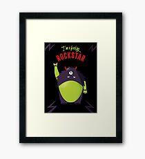 Monster Rockstar Framed Print