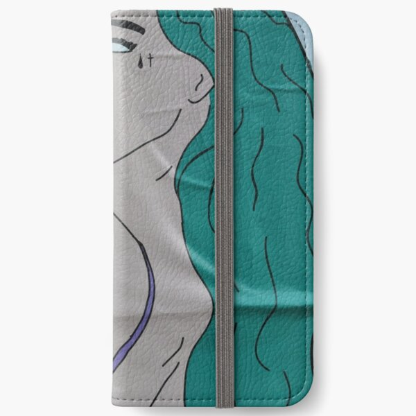the strong beauty with the green hair iPhone Wallet