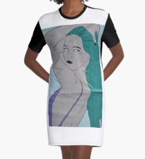 the strong beauty with the green hair Graphic T-Shirt Dress