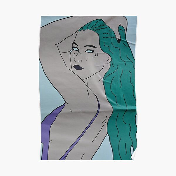 the strong beauty with the green hair Poster