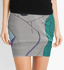 the strong beauty with the green hair Mini Skirt