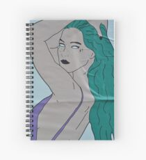 the strong beauty with the green hair Spiral Notebook