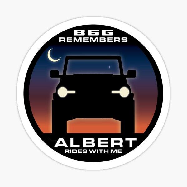 In Memory of Albert - Moon & stars version Sticker