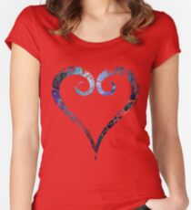 Kingdom Hearts Heart grunge universe Women's Fitted Scoop T-Shirt