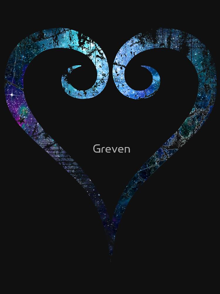 Kingdom Hearts Heart grunge universe | Unisex T-Shirt