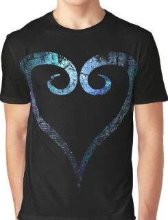 Kingdom Hearts Heart grunge universe Graphic T-Shirt